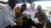 Sheriff Olanrewaju (ANA Kogi and author of Sambisa Squirrel), Su'eddie and Usman Nurain Muhammad (ANA Gombe and author of the chapbook, High School Verses)