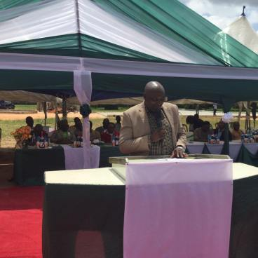 ANA President Denja Abdullahi (giving his speech)