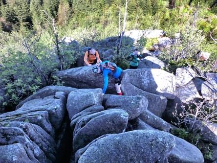 Aufstieg zur Leistenklippe