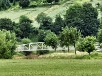 Ein Blick auf die neue Brücke bei Wettensen, mit Zoom
