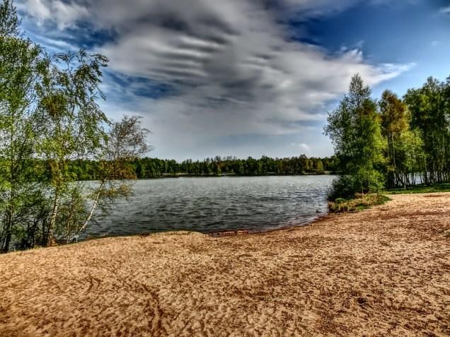 """Der """"Maschener Moor See"""" mit Badestrand"""