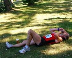 Triathlon Hoyerswerda Ziel