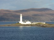 Eilean Musdile got clearer as I zoomed in on my little camera. Eilean Musdile (Mansedale) is an islet, and lighthouse to the south west of Lismore in the Inner Hebrides.