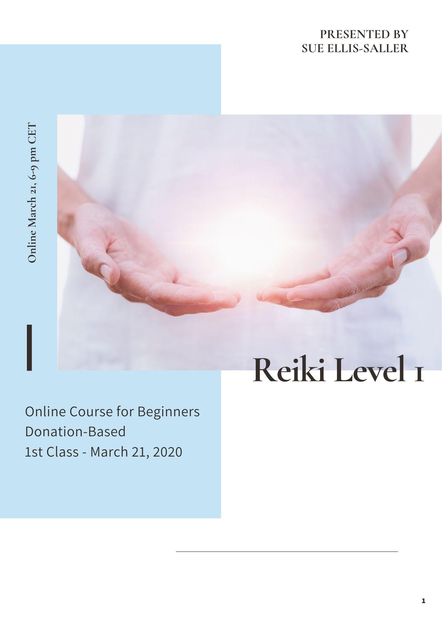 Reiki 1 March 21 Online