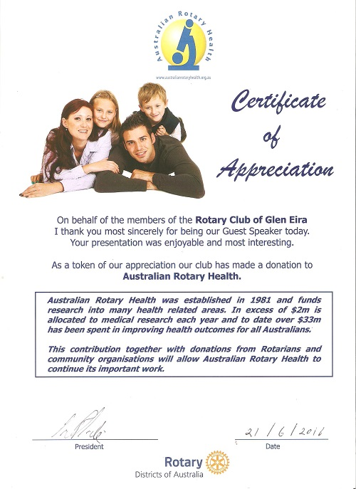 LinkedIn For Your Work, Career and Business with Sue Ellson Certificate of Appreciation