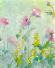 Poppies, acrylic on board, 20 x 16