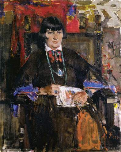 Portrait of Mabel Dodge Luhan by Nicolai Fechin (1881-1955)