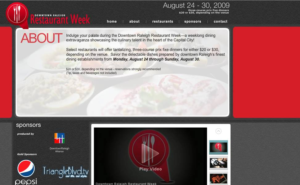 2009 restaurant week