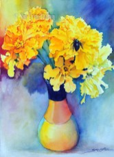 Marigolds with Bee $99