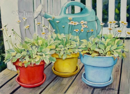 Three Pots and Watering Can $99