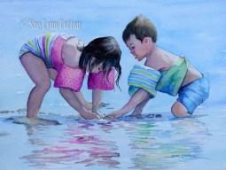 Kids on the Shoreline $99