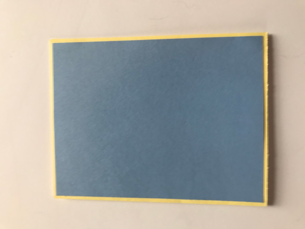 Yellow and blue cardstock pair together so well to make a beautiful card.