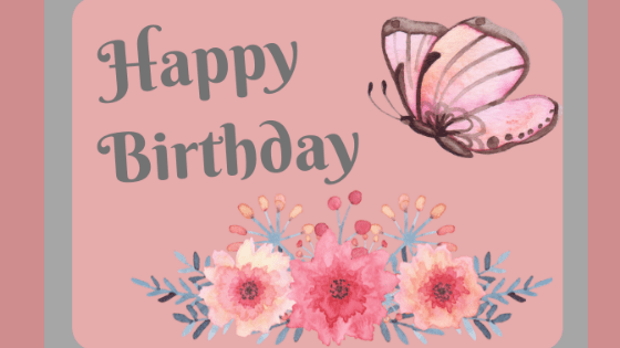 Easy Beautiful E-Card to Spotlight a Birthday