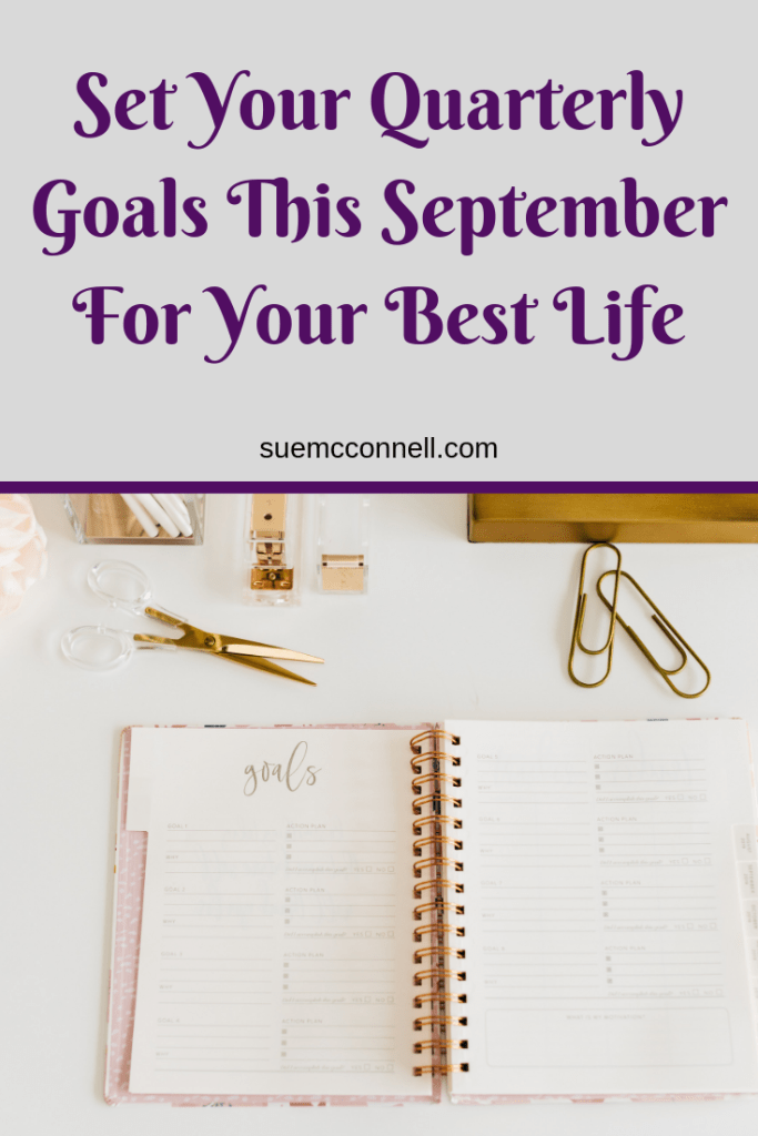 Goal setting is an important way to help you grow and improve your life. Quarterly goals are mini goals to progress you to your bigger goals.