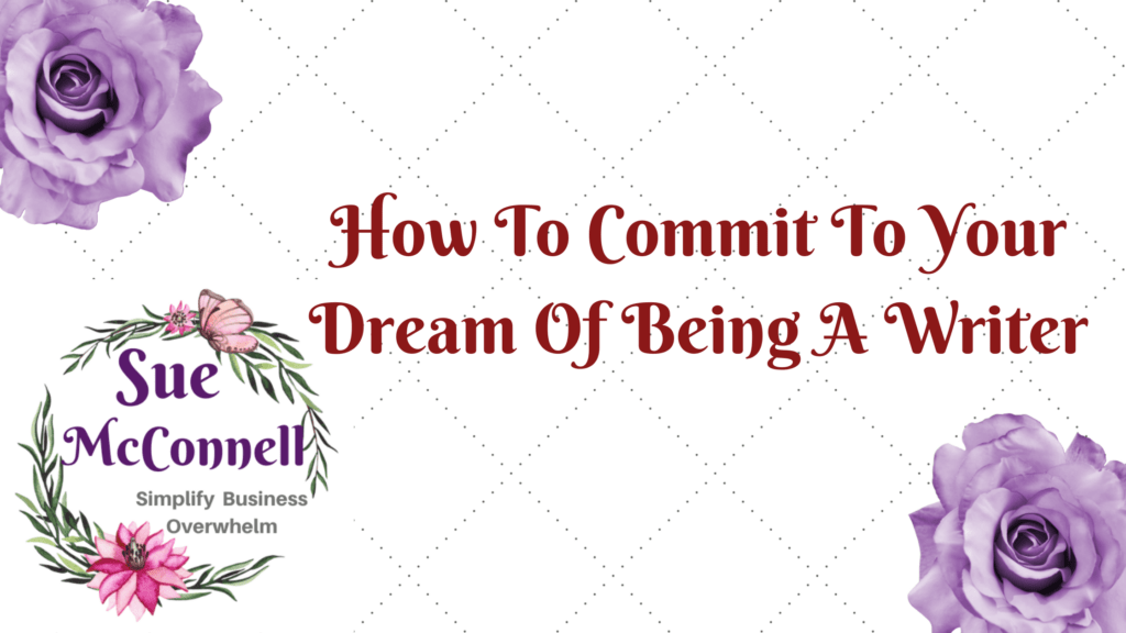 The first thing to be a successful writer is to commit to it.