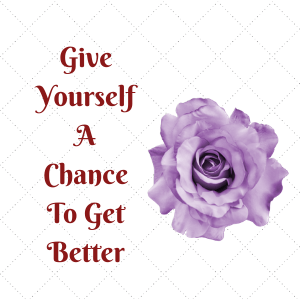 Commit to giving yourself a chance to get better and more improved at your writing.