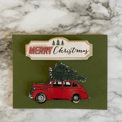 This Christmas card requires few materials and little craftyness from you. Yet it will be received with love because it came from your imagination.