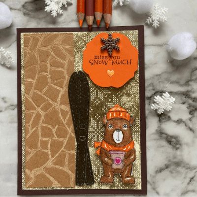 The Winter Bears stamp set makes this wintery card.