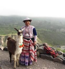 Woman with Llama