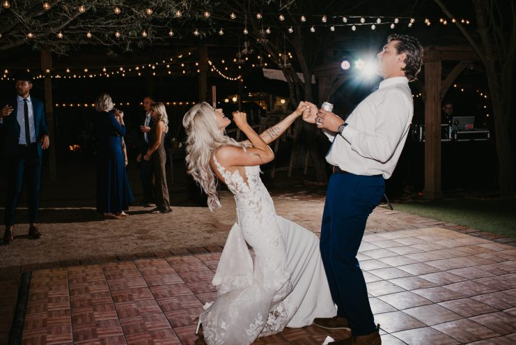 whispering tree ranch wedding photography couple singing together