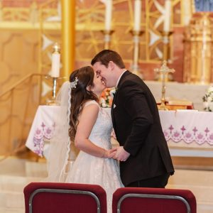 St-Benedicts-Roman-Catholic-Church-wedding-ceremony-kiss-suessmoments