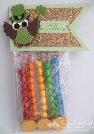 St. Patrick's Day Owl Punch Leprechaun Rainbow Treat Bag with Banner Framelits5-imp