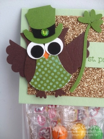 St. Patrick's Day Owl Punch Leprechaun Rainbow Treat Bag with Banner Framelits2-imp
