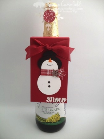 Punch Art Snowman Bottle Tag and Card1-imp