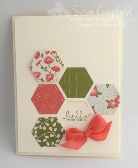 Hexagon Six Sided Sampler Pretty Petals - 1