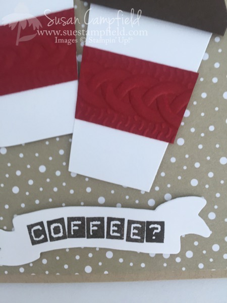 Coffee Cup Card With Home Sweet Home Thinlits Dies - 1