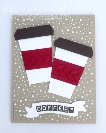 Coffee Cup Card With Home Sweet Home Thinlits Dies - 2