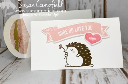 Hedgehugs Sure Do Love You Narrow Note Cards Stampin' Up! - 2