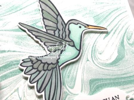 Stampin' Up! Humming Along Hummingbird Dies Marbled - 6