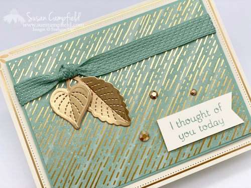 Love of Leaves in Gold and Mint