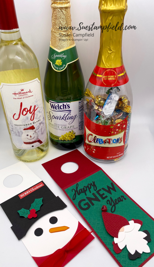 Gnome Wine Tag Happy Gnew Year - 1