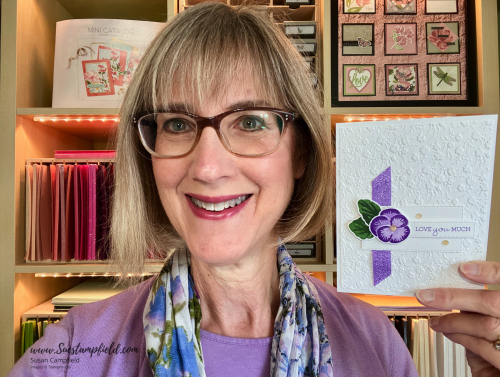 Stampin' Up! Pansy Patch Love You Much in Purple - 2 (2)