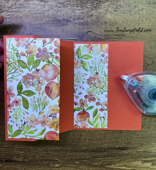 You're A Peach 3-Panel Scenery Z Fold Card - 9