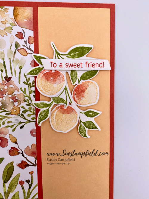 You're A Peach Scenery 3-Panel Z Fold Card - 2