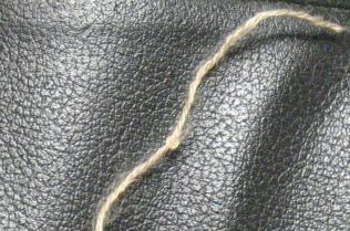 A close-up of a strand of the yarn.