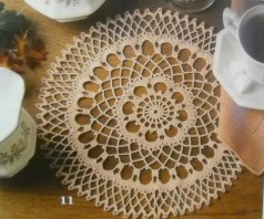 Photo of doily in booklet