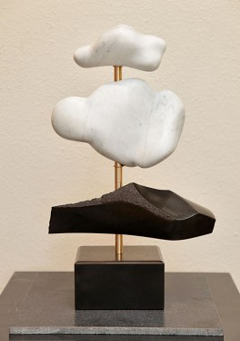 Mountains and Clouds - marble, basalt, bearings on basalt - $1400