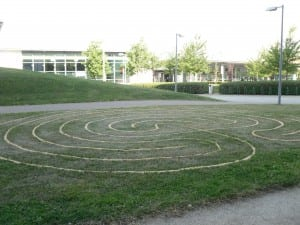 labyrinth at the HEA Conference 2010, University of Hertfordshire