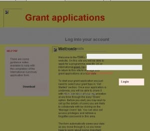 comic relief grant application page