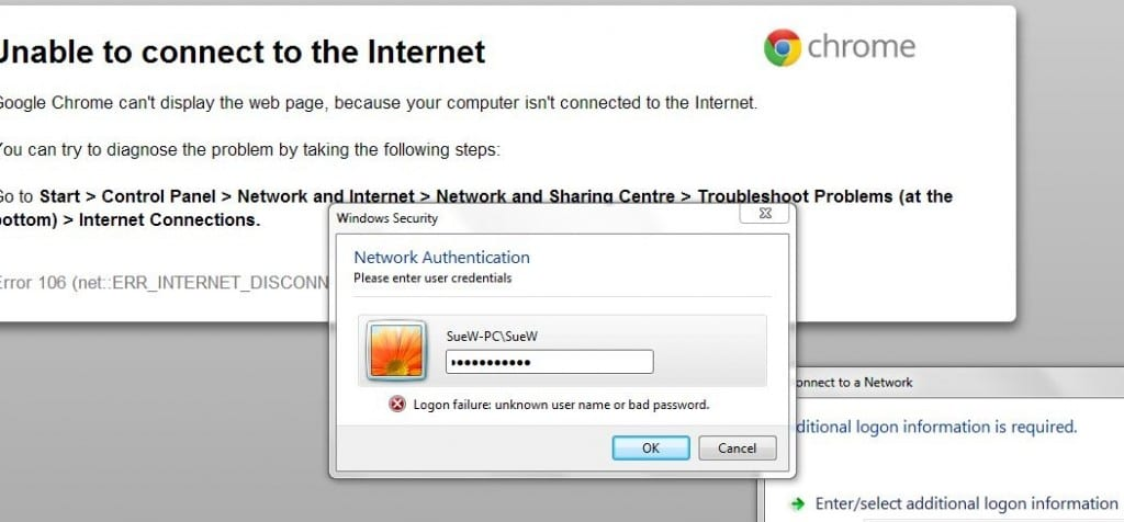 wifi authentication box in windows 7