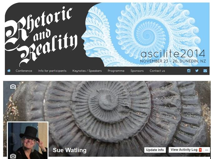 meaningful coincidence between ASCILITE banner and my Facebook header!