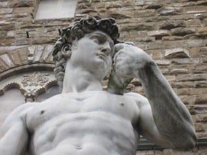 David outside Palazzio Vecchio