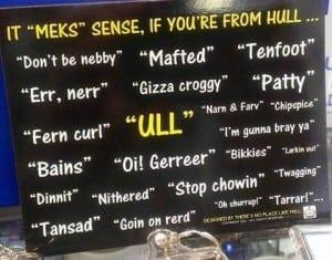 Examples of Hull dialect
