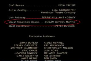 Credits for The Langoliers with my name circled.