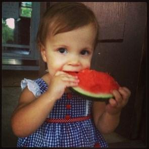 Amazing Grace Designs watermelon girl