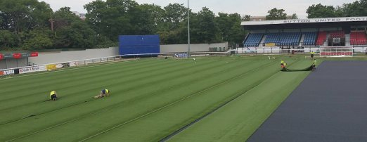 Sutton United FC 3G Pitch New Surface